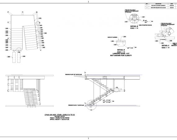 AE Technical Drawings - UBS Stair