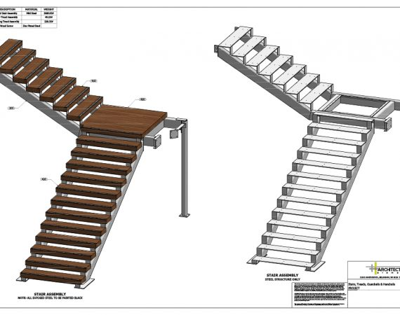 AE Technical Drawings - Salal Stair