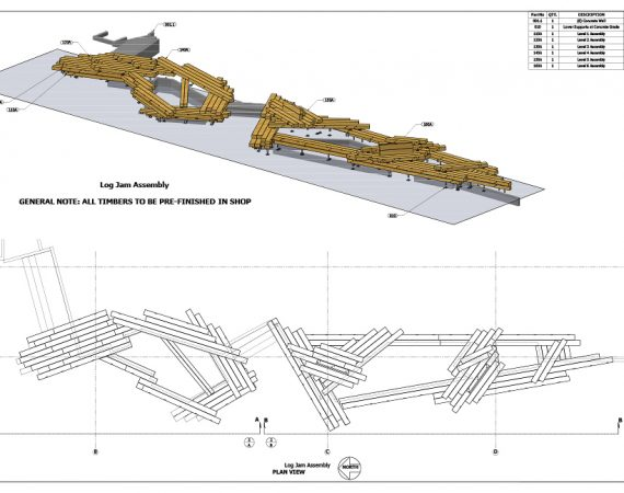 AE Technical Drawings - Log Jam