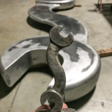 AE - Big Wrench Sculpture Fabrication