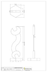 AE Technical Drawings - Wrench Sculpture