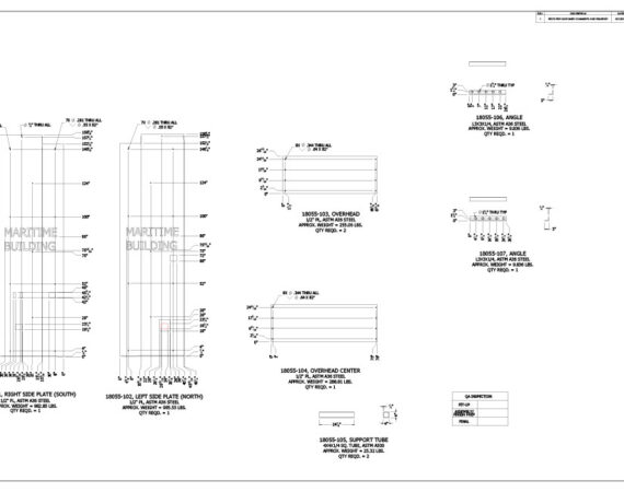 AE Technical Drawings - Maritime Building Entry